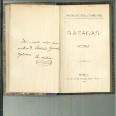 Libros antiguos: RÁFAGAS. POESÍAS. MERCEDES DE VELILLA Y RODRÍGUEZ. Lote 56048371