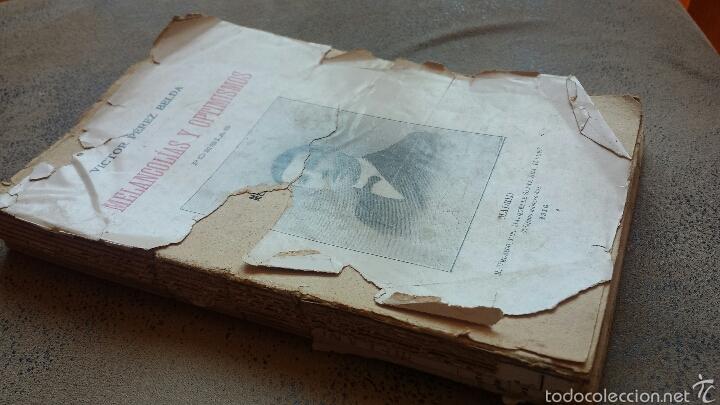 Libros antiguos: Melancolias y optimismos- Poesia-novelda- victor pérez belda- 1916 - Foto 2 - 56118170
