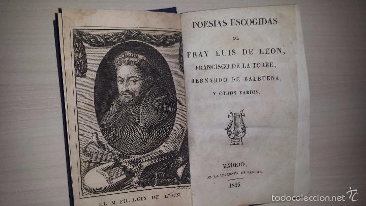 Poesias Escogidas De Fray Luis De Leon Francis Comprar