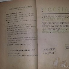 Libros antiguos: POESIA. OBRAS ESCOGIDAS (1908) VICENTE MEDINA. Lote 76105923