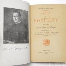 Livres anciens: AYRES DEL MONTSENY - JACINT VERDAGUER (JOVENTUT, 1901). Lote 56235582