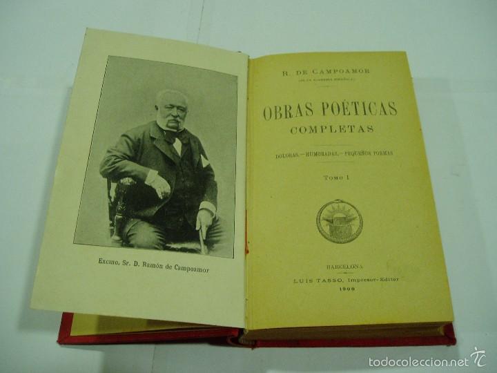 Libros antiguos: POESIAS COMPLETAS DE CAMPOAMOR.TOMOI 1900 - Foto 2 - 56723126
