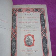 Libros antiguos: CANCIONERO DE LA ROSA TOMO II PEREZ DE GUZMAN ESCRITORES CASTELLANOS 1ª EDICION 1892.. Lote 57090212