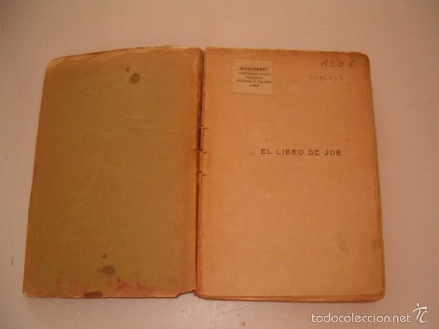 Libros antiguos: FRANCISCO VILLAESPESA. El Libro de Job. RM75117. - Foto 3 - 57399432