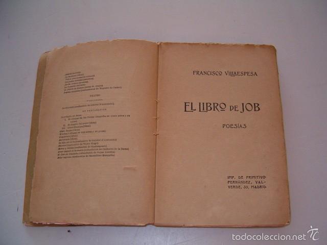 Libros antiguos: FRANCISCO VILLAESPESA. El Libro de Job. RM75117. - Foto 4 - 57399432