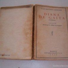 Libros antiguos: JUAN BAUTISTA ANDRADE. DIANA DE GAITA. (POEMAS). RM75118. . Lote 57399458