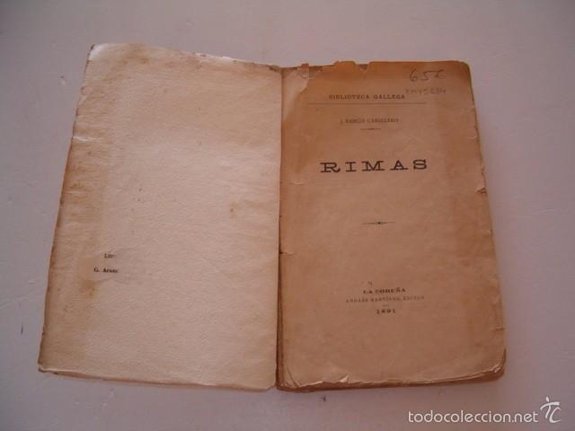 Libros antiguos: J. BARCIA CABALLERO. Rimas. RM75134. - Foto 2 - 57399845