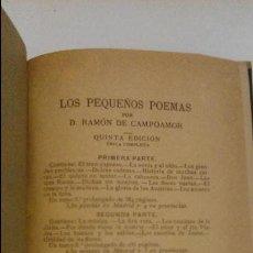 Libros antiguos: POÉTICA. LOS PEQUEÑOS POEMAS. D. RAMÓN CAMPOAMOR. 1882 MADRID. Lote 57571213