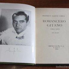 Libros antiguos: ROMANCERO GITANO (1924-1927). GARCÍA LORCA, FEDERICO. ESPASA-CALPE, 1935. SEXTA EDICIÓN.. Lote 224080398
