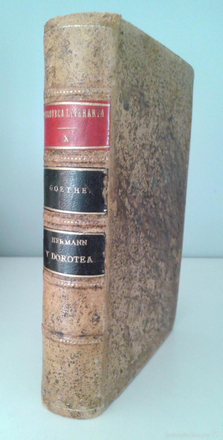 HERMANN Y DOROTEA, POEMA. POESIAS VARIAS- GOETHE. EDITORIAL REUS. MADRID, 1924 (Libros antiguos (hasta 1936), raros y curiosos - Literatura - Poesía)