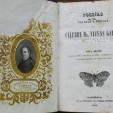 Libros antiguos: POESÍAS JOCOSAS Y SERIAS. VICENS GARCIA RECTOR DE VALLFOGONA. 1840.. Lote 57829064