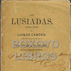 Libros antiguos: CAMÓES, LUIS DE. LOS LUSIADAS. POEMA ÉPICO, TRADUCIDO EN VERSO CATELLANO POR EL CONDE DE CHESTE. Lote 57904626
