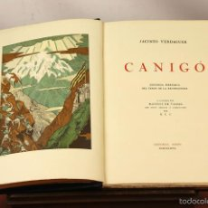Libros antiguos: LC-049 - CANIGÓ LLEGENDA PIRENAICA DEL TEMPS DE LA RECONQUESTA. J. VERDAGUER. EDI. ORBIS. 1931.. Lote 58148809