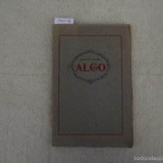 Libros antiguos: ALGO, BARTRINA, JOAQUIN M.,. Lote 58203941