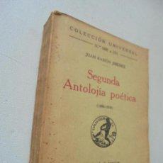 Libros antiguos: JUAN RAMÓN JIMÉNEZ, SEGUNDA ANTOLOGÍA POÉTICA 1898-1918-MADRID, 1933.- ESPASA-CALPE. Lote 58336465