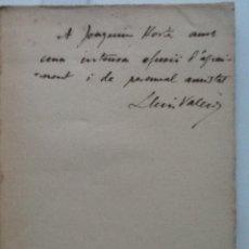 Libros antiguos: LA VIDA NUA. 1921. LLUIS VALERI. DEDICATORIA Y SIGATURA DE L'AUTOR. Lote 58419017