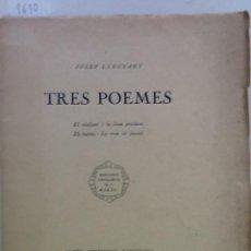 Alte Bücher - TRES POEMES. 1920 JOSEP LLEONART - 58438284