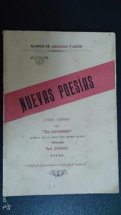 NUEVAS POESIAS - RAMON DE ASCANIO Y LEON - 1929 - CANARIAS (Libros antiguos (hasta 1936), raros y curiosos - Literatura - Poesía)