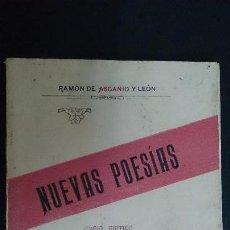 Libros antiguos: NUEVAS POESIAS - RAMON DE ASCANIO Y LEON - 1929 - CANARIAS. Lote 58581745