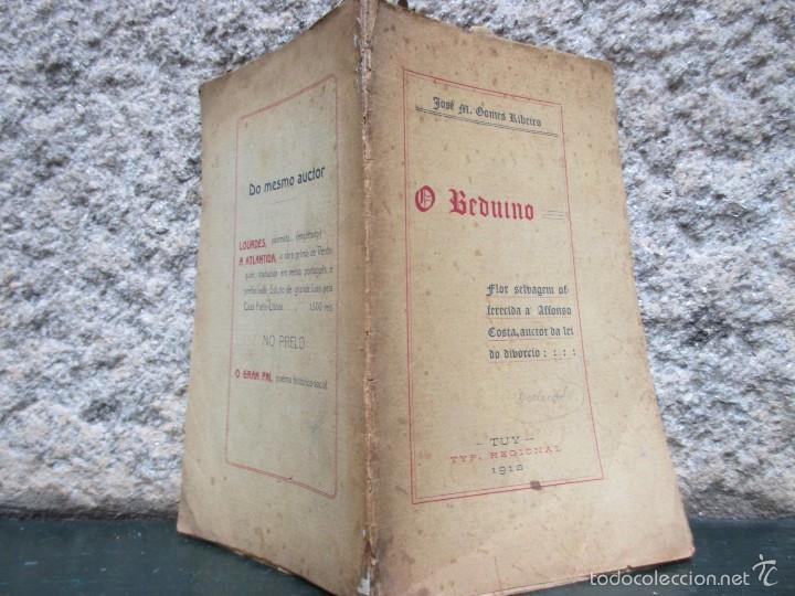 O BEDUÍNO. FLOR SELVAGEM OFFERECIDA A AFFONSO COSTA, AUCTOR DA LEI DO DIVORCIO. TUY 1912 DEDI+ INFO (Libros antiguos (hasta 1936), raros y curiosos - Literatura - Poesía)
