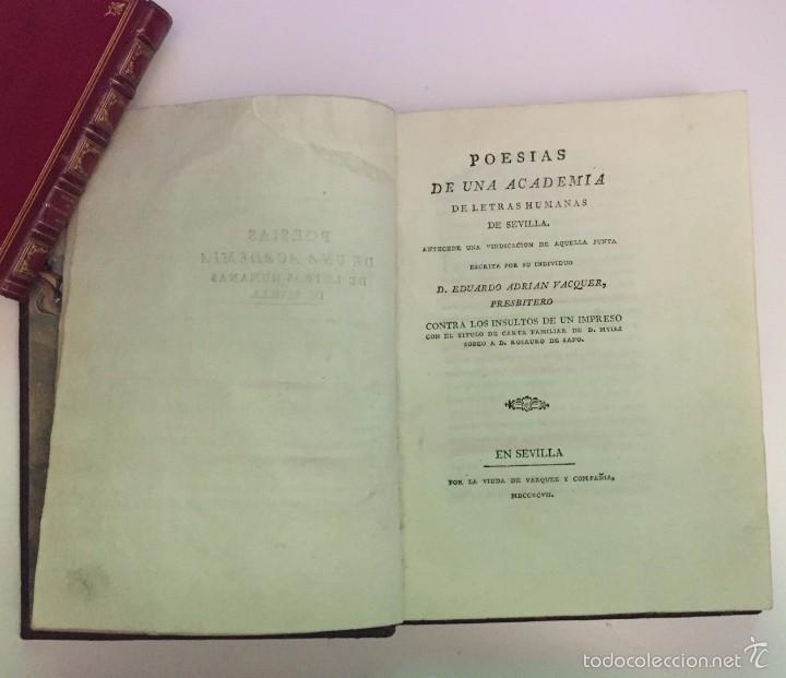 Poesias De Una Academia De Letras Humanas De Se Buy Old Books Of