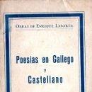 Libros antiguos: ENRIQUE LABARTA : POESÍAS EN GALLEGO Y CASTELLANO (POLIGLOTA, C. 1926). Lote 62995120