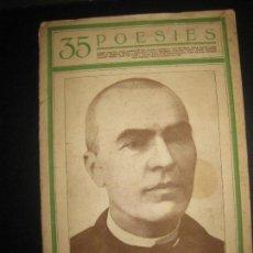 Libros antiguos: JACINTO VERDAGUER. 35 POESIES. COL·LECCIO QUINZENAL COSES DE CATALUNYA.. Lote 63176796