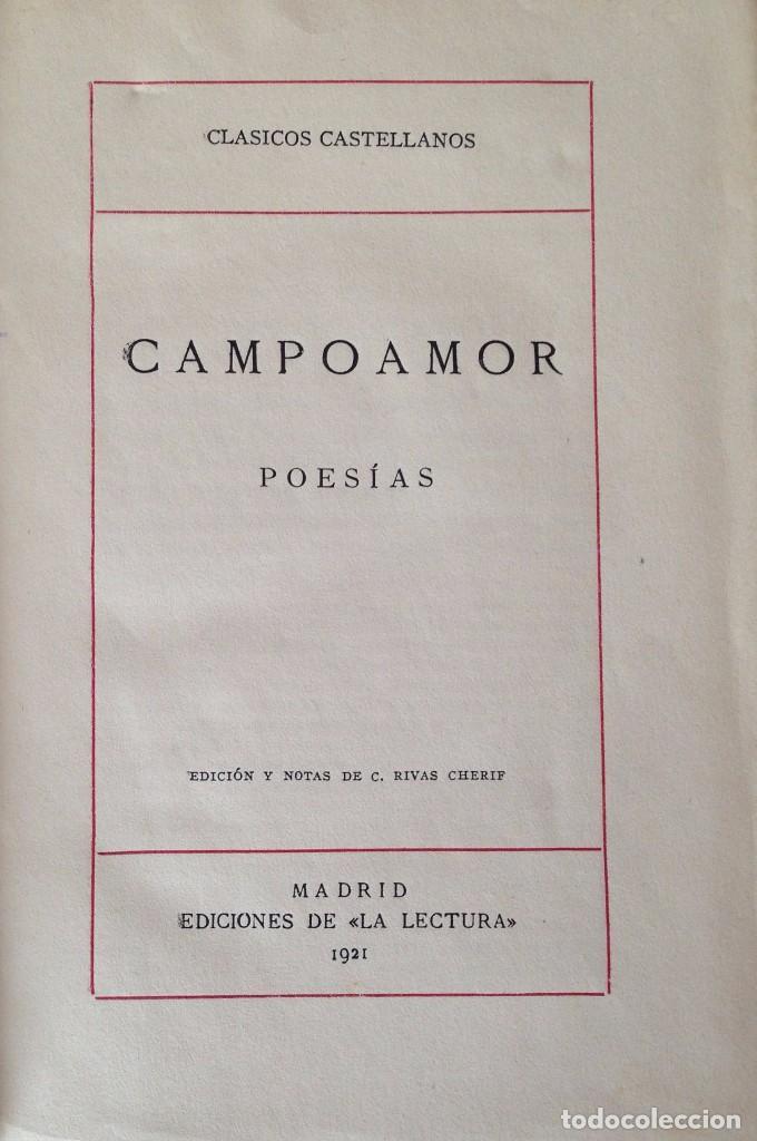 Libros antiguos: Campoamor. Poesías. Madrid 1921. - Foto 2 - 63668063
