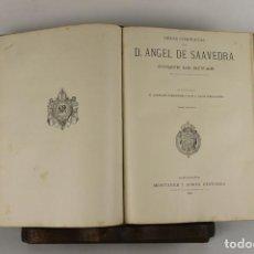 Libros antiguos: 5121- OBRAS COMPLETAS DE ANGEL SAAVEDRA. EDIT. MONTANER Y SIMON. 1884/1885. 2 VOL EN 1 TOMO.. Lote 45169865