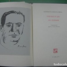 Libros antiguos: EDICION LIMITADA DE SOLO 250, FEDERICO GARCIA LORCA,TEORIA Y JUEGO DEL DUENDE, RETRATO CARLOS PRADAL. Lote 64606407