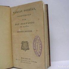 Libros antiguos: HERNANDO DE ACUÑA. VARIAS POESÍAS. SANCHA 1804. Lote 66528690