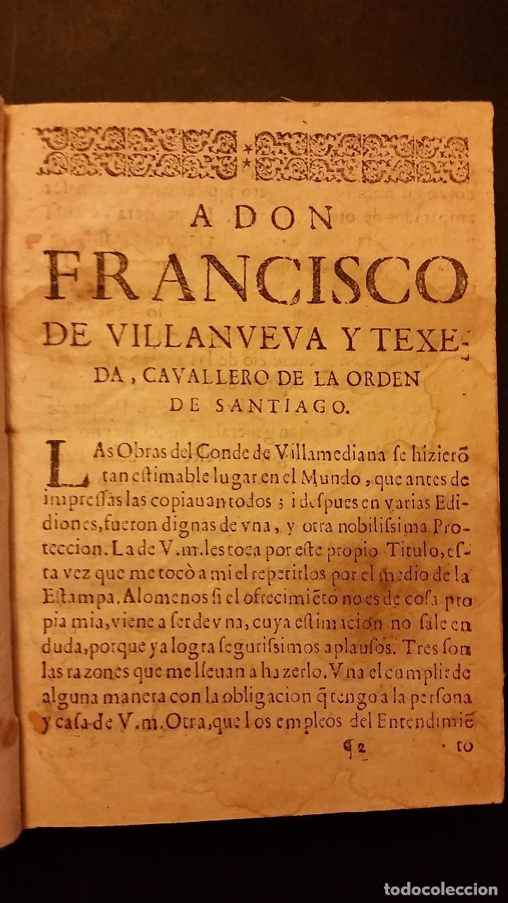 Libros antiguos: 1634 - JUAN DE TARSIS, CONDE DE VILLAMEDIANA - OBRAS - Foto 3 - 67971393