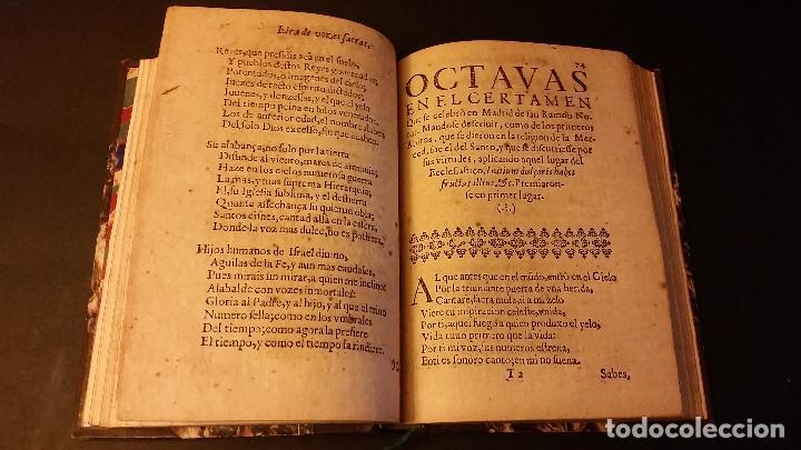 Libros antiguos: 1637 - GABRIEL BOCÁNGEL - LIRA DE LAS MUSAS, DE HUMANAS Y DIVINAS VOZES, JUNTO CON LAS DEMAS OBRAS - Foto 9 - 67971673