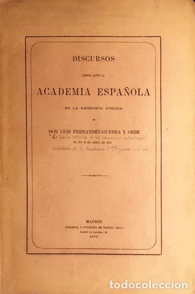 FERNÁNDEZ-GUERRA Y ORBE: LA TEORÍA MÉTRICA DE LOS ROMANCES CASTELLANOS. (1875) EL ROMANCE; PROSODIA, (Libros antiguos (hasta 1936), raros y curiosos - Literatura - Poesía)