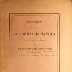 Libros antiguos: FERNÁNDEZ-GUERRA Y ORBE: LA TEORÍA MÉTRICA DE LOS ROMANCES CASTELLANOS. (1875) EL ROMANCE; PROSODIA,. Lote 68160377
