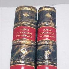 Libros antiguos: POETAS DRAMATICOS VALENCIANOS, 2 TOMOS.. Lote 68471185