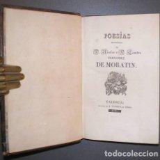 Libros antiguos: FERNANDEZ DE MORATIN, NICOLÁS Y LEANDRO: POESIAS ESCOGIDAS.1830. PLENA PIEL. Lote 69537533