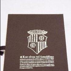 Libros antiguos: LAS OBRAS DEL FAMOSISSIMO PHILOSOFO Y POETA MOSSEN OSIAS MARCO TRADUZIDAS POR DON BALTASAR DE ROMANI. Lote 69702301
