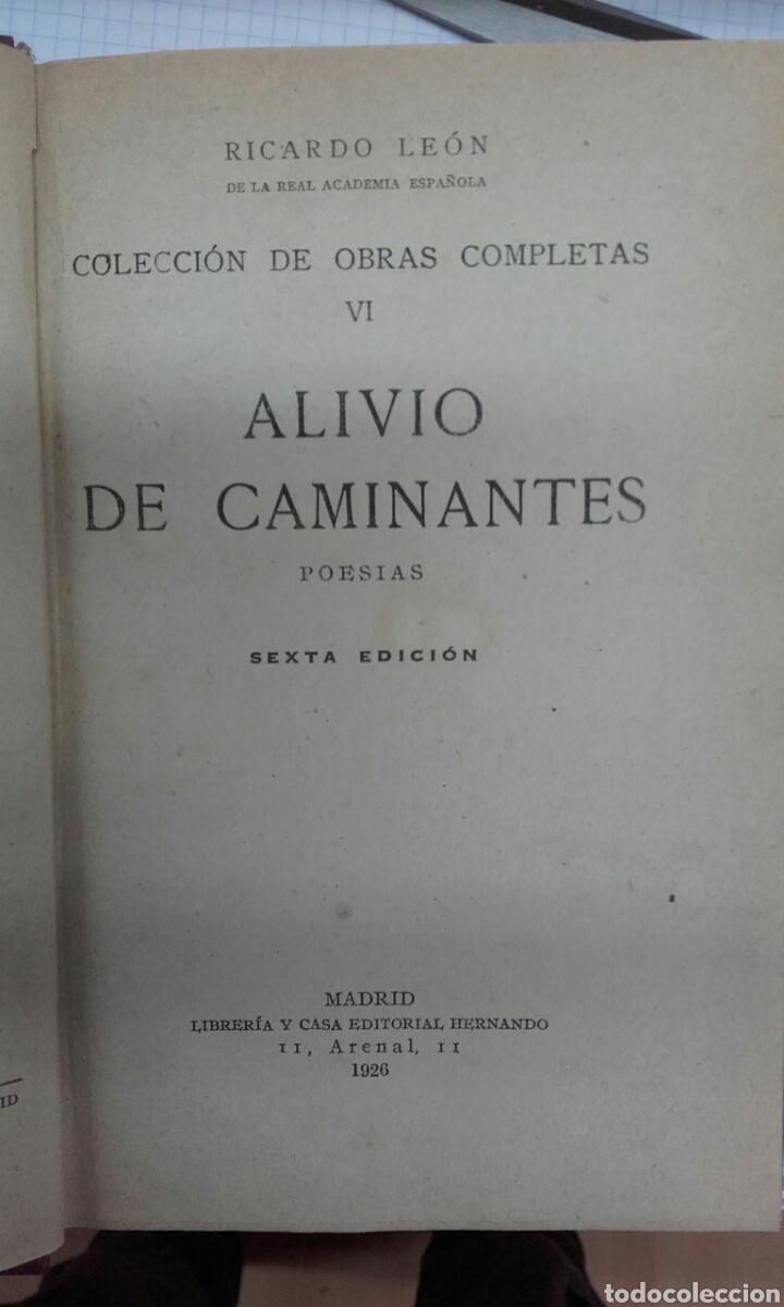 ALIVIO DE CAMINANTES. LEON. HERNANDO. 1926 (Libros antiguos (hasta 1936), raros y curiosos - Literatura - Poesía)