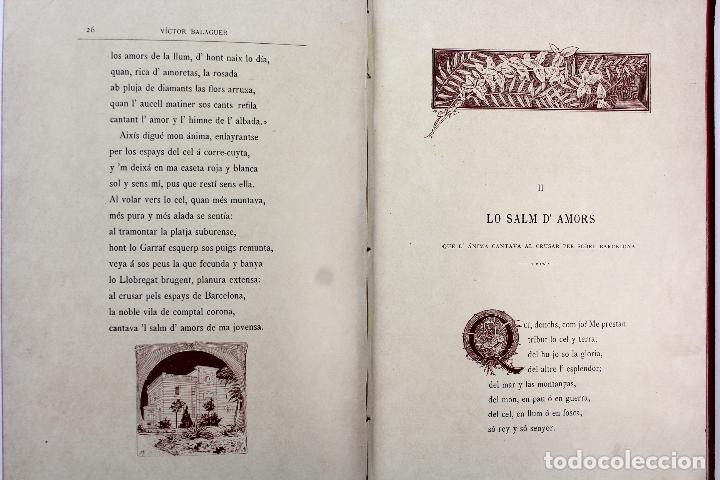 Libros antiguos: L-3666. LO ROMIATGE DE MON ANIMA /LA ROMERIA DE MI ALMA. VICTOR BALAGUER. ED. BILINGÜE. 1897 - Foto 10 - 71176221