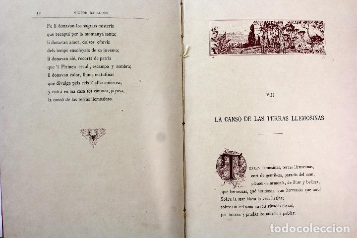 Libros antiguos: L-3666. LO ROMIATGE DE MON ANIMA /LA ROMERIA DE MI ALMA. VICTOR BALAGUER. ED. BILINGÜE. 1897 - Foto 13 - 71176221