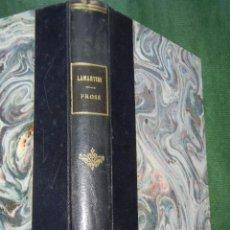 Libros antiguos: LAMARTINE - PROSE - NOTICES Y NOTES MLLE.VINCENT - 1927. Lote 71481027
