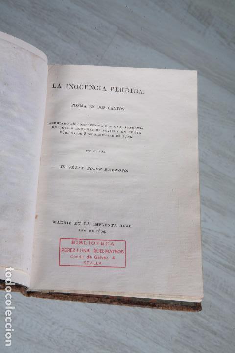 Libros antiguos: LA INOCENCIA PERDIDA - POEMA EN DOS CANTOS - FÉLIX JOSEF REYNOSO - MADRID 1804 - Foto 2 - 71481971