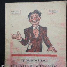 Libros antiguos: VERSOS HUMORISTICOS PARA RECITAR. 1ª SERIE.. Lote 71978983
