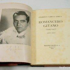 Libros antiguos: ROMANCERO GITANO, F.G. LORCA. ESPASA CALPE 1936, 15X20 CM. Lote 143582489