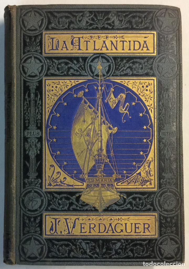 PRIMERA EDICIÓN. LA ATLANTIDA. J. VERDAGUER. 1878. EDICION BILINGÜE, EN PAPEL DE HILO. (Libros antiguos (hasta 1936), raros y curiosos - Literatura - Poesía)