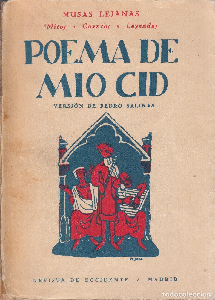Pedro Salinas Poema De Mio Cid Madrid 1934 Comprar
