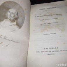 Libros antiguos: OBRAS POSTUMAS DE FERNANDEZ DE MORATIN . FLUMISBO THERMODONCIACO - 1821 1ERA EDICION ?. Lote 75745403