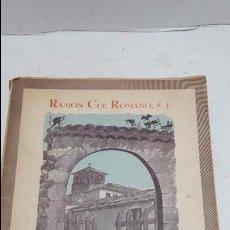 Libros antiguos: TRILOGÍA POÉTICA. - RAMÓN CUÉ ROMANO. Lote 75704671
