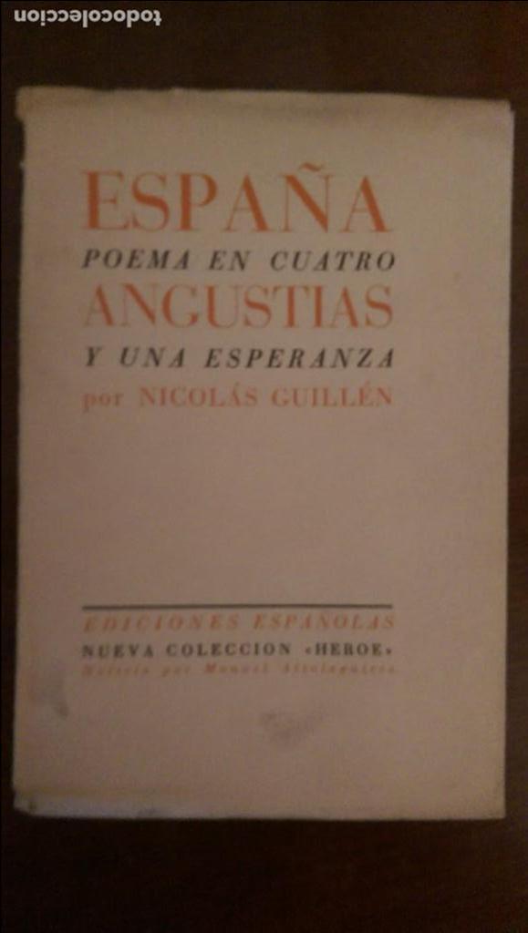 Unico espa a poema en cuatro angustias y una comprar - Libros antiguos valor ...